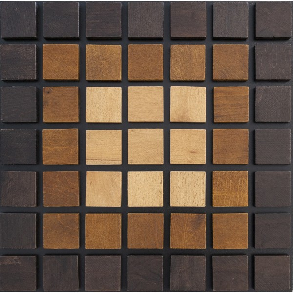 Wooden decorative 3D panels Mosaique ‐ Implosion