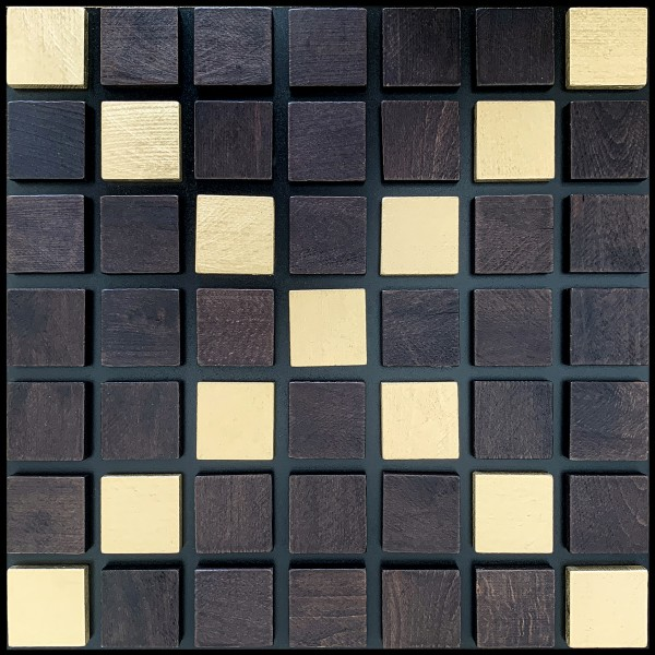 Wooden decorative 3D panels Mosaique ‐ Merigold