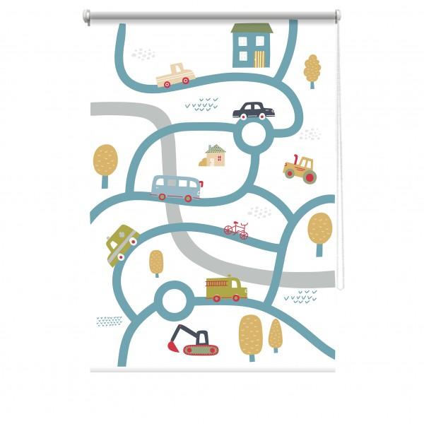 Rulou textil cu print - Car-map 3