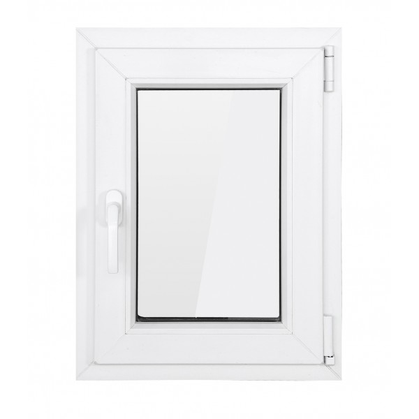 Fereastra PVC cu geam termopan, 71x116 cm, 1 canat, profil Bastion, 5 camere, 70 mm, deschidere oscilobatanta, dreapta, alb