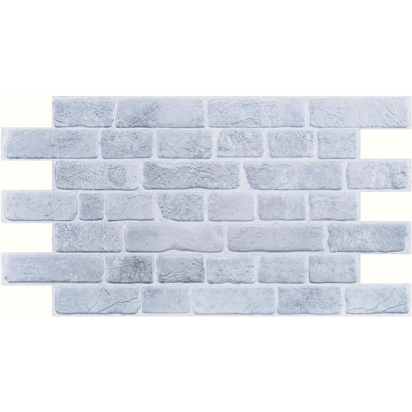 Brick Retro Gray Decorative Panels, PVC, SET 10 PIECES, total area covered 4.71  sqm