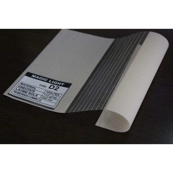 Duorulou LAR 102, dimensiune panza 41.5x160 cm, dimensiune finala 45X160 cm, prindere CLEMFIX