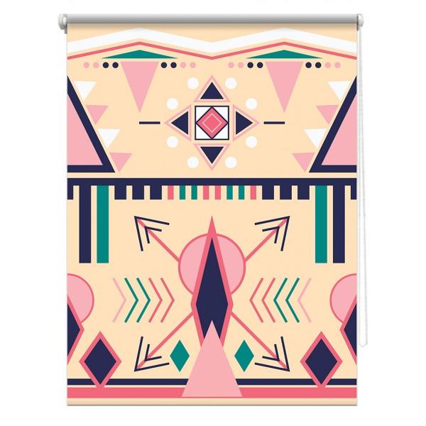 Rulou textil - Design Figuri Abstracte - model 10