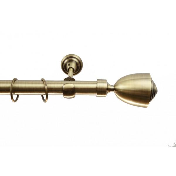 Galerie metalica Lalea 25mm, auriu antic, KIT COMPLET