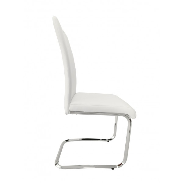CANTON dining chair,ecological leather, white