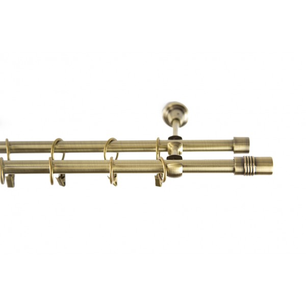 Galerie metalica Celtex Plus 16mm, auriu antic, KIT COMPLET