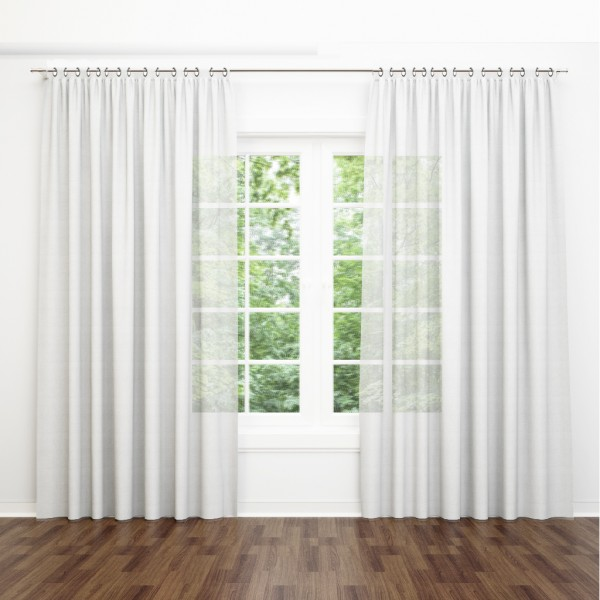 Voile Curtain white