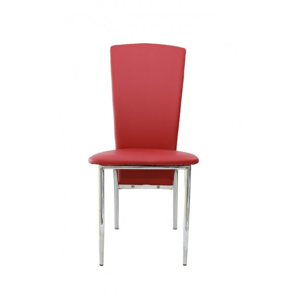 Deea dining chair,ecological leather,bordeaux