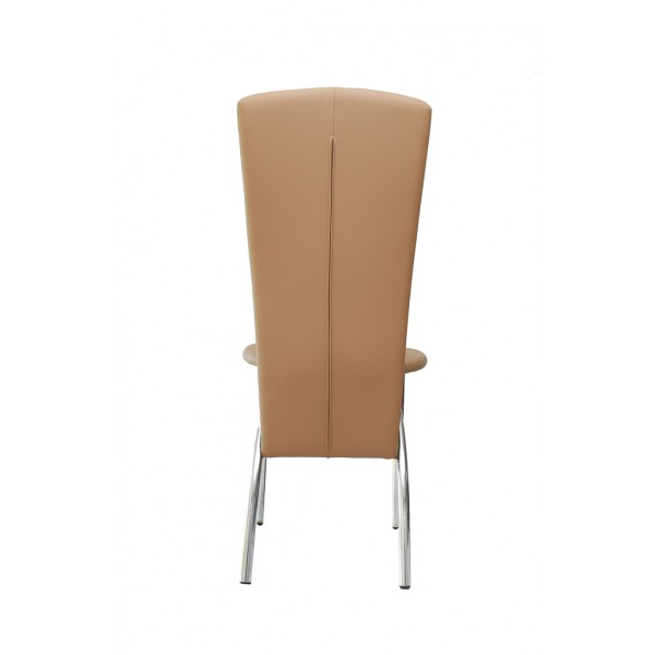 Deea dining chair,ecological leather,Cappuccino