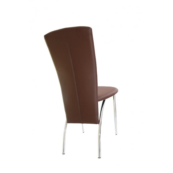 Deea dining chair,ecological leather,brown