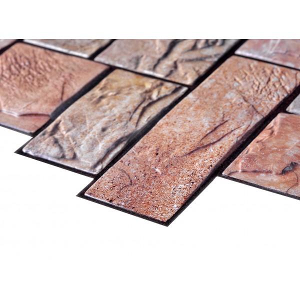 Panouri Decorative Stone Cut Yellow, PVC, SET 10 BUCATI, grosime 0.4 mm, suprafata totala acoperita 4.81 mp
